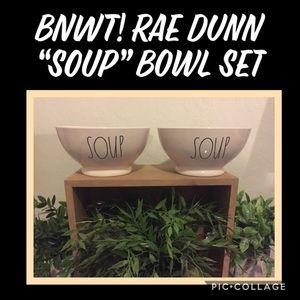 "BNWT! Rae Dunn ""SOUP"" Bowl Set"